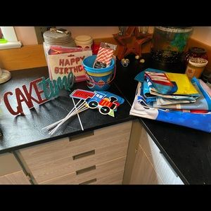 Left over Thomas birthday party supplies